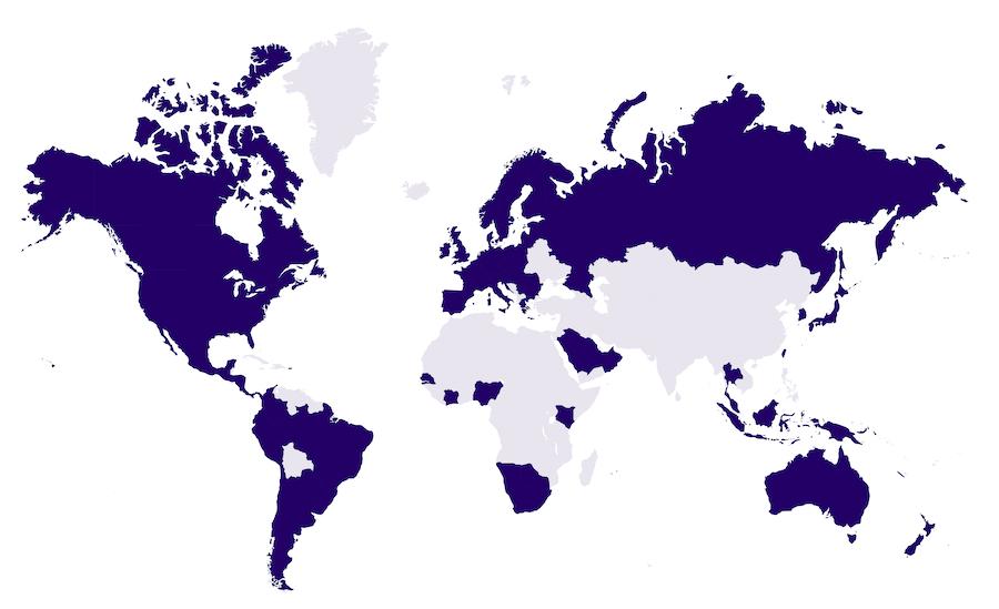 Couverture du réseau Sigfox dans le monde
