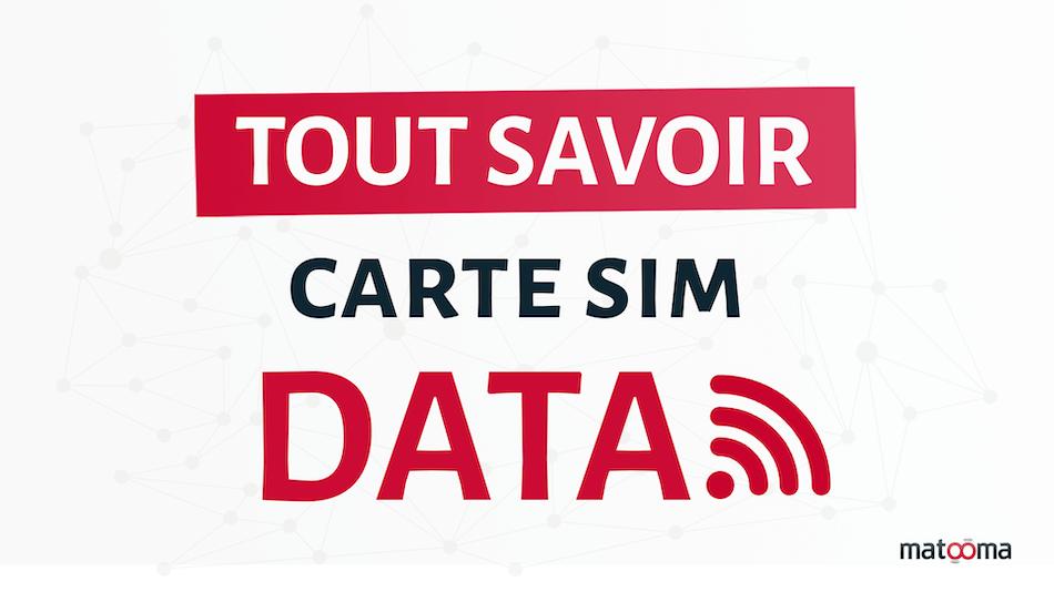 Carte SIM Data uniquement